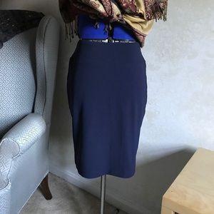 Boston Proper Navy Skirt Travel Collection